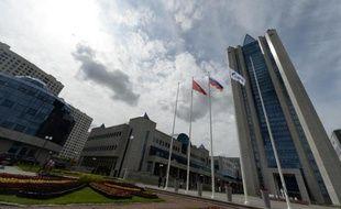 Le siège du géant russe du gaz Gazprom à Moscou, le 27 juin 2014