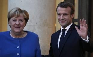 Angela Merkel et Emmanuel Macron, le 13 octobre 2019.