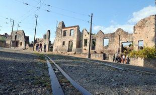 En août 2013, les ruines du village martyr d'Oradour-sur-Glane (Haute-Vienne).