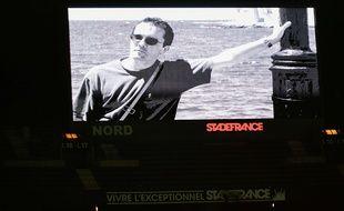 Un hommage à Samuel Paty au Stade de France, le 24 octobre 2020.