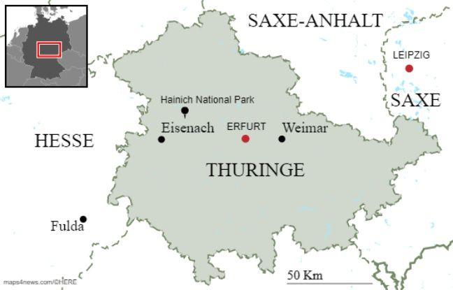 Le «Land» allemand de Thuringe.