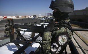 Un policier de la garde nationale du Mexique, le 5 novembre 2020.