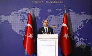 Le ministre turc des Affaires étrangères, Mevlut Cavusoglu le 9 janvier 2015 à Ankara