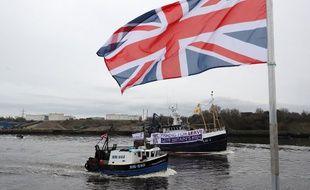 Un drapeau du Royaume-Uni sur le port de Newcastle (image d'illustration).