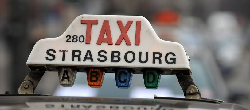 Illustration d'un  taxi. Strasbourg le 30 01 2008