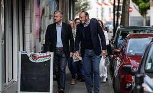 Jean-Baptiste Gastinne et Edouard Philippe dans les rues du Havre, le 23 juin 2020.