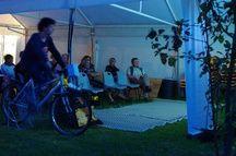 Le fameux vélo-dynamo utilisé lors des séances.