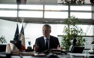 Bruno Le Maire, ministre de l'Économie et des Finances, dans son bureau.