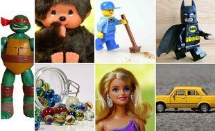 Tortue Ninja, Kiki, Lego, billes, Barbie, voiturette, des jouets qu'on entourait dans les catalogues de Noël avec envie