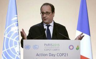 Le président français François Hollande à la conférence climat du Bourget, le 5 décembre 2015