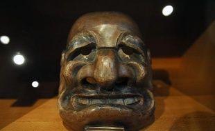 Le célèbre masque de théâtre kyogen (Japon, XVIIIe) du musée Georges-Labit.