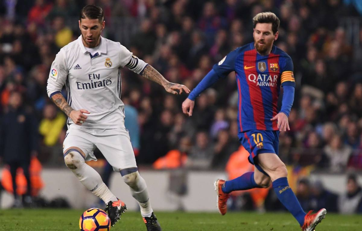 Sergio Ramos et Lionel Messi le 3 décembre 2016 au Camp Nou. –  Bagu Blanco/BPI/Shutter/SIPA