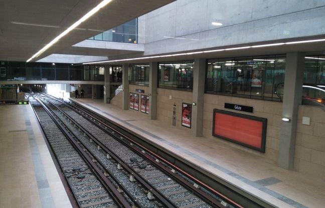 La nouvelle station de métro Gèze à Marseille.