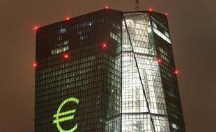 Le siège de la Banque centrale européenne, à Francfort en Allemagne, le 12 mars 2016
