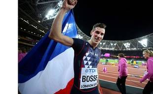 Pierre-Ambroise Bosse après sa victoire du 400m le 8 août 2017 à Londres.