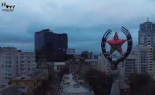 Screenshot de la vidéo du Courrier de la Russie
