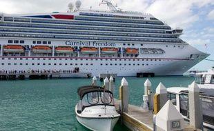 Un navire de croisière américain de la compagnie Carnival à Key West, en Floride