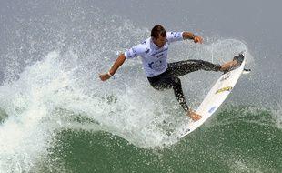 Joan Duru lors des championnats du monde de surf de Biarritz.
