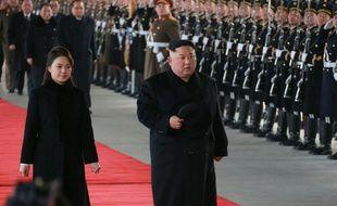 Kim Jong-un, accompagné de son épouse Ri Sol-ju, a quitté Pyongyang le 8 janvier 2019 pour une visite de quatre jours en Chine.