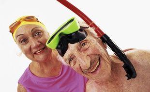 Couple de personnes âgées, illustration.