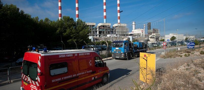 Les pompiers lors d'un exercice sur la centrale de Ponteau (illustration).