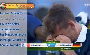 Antoine Griezmann en larmes après l'élimination de l'équipe de France