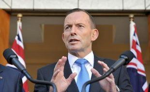 Le Premier ministre australien Tony Abbott à Canberra le 9 septembre 2015