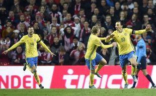 Auteur d'un doublé, Ibrahimovic a permis à la Suède de se qualifier pour l'Euro face au Danemark (2-2), le 17 novembre 2015.