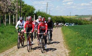 Tony Gallopin et Marion Rousse ont reconnu l'étape des pavés du Tour de France