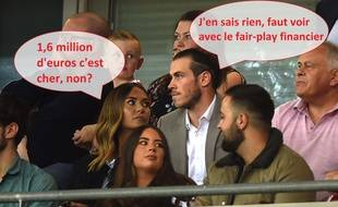 Gareth Bale et madame en pleine discussion