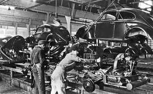 Lancement de la production de la Volkswagen