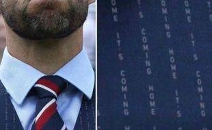 Le photomontage du gilet de Gareth Southgate, entraîneur de l'équipe de foot d'Angleterre.
