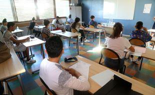 Une épreuve du diplôme national du brevet à Montpellier 28/06/18.
