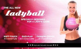 Capture d'écran du site Ladyball.