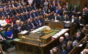 Boris Johnson au Parlement ce samedi