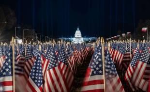 Le capitole à Washington, à la veille de l'investiture de Joe Biden, le 19 janvier 2020.