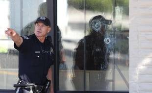 La devanture d'un restaurant de Carson, dans le Nevada, où un homme a ouvert le feu, le 6 septembre 2011.