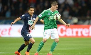 L'attaquant stéphanois Romain Hamouma lors de la demi-finale de Coupe de France entre Paris et Saint-Etienne, le 8 avril 2015 au Parc des Princes.