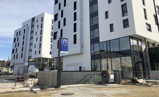 La résidence L'Emblem est située juste au-dessus de la future station Cleunay à Rennes.