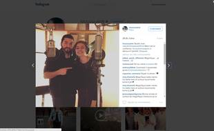 Capture d'écran de la photo publiée par Louane sur son compte Instagram.