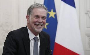 Reed Hastings, cofondateur de Netflix à Paris le 20 janvier 2020