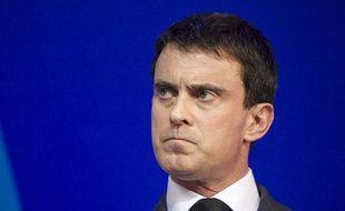 Manuel Valls au ministère de l'Intérieur le 31 janvier 2014.