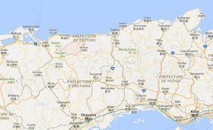 La préfecture de Tottori (Japon).