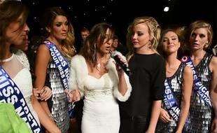 Capture d'écran de la vidéo filmée par La Voix du Nord à l'issue de l'élection de Miss Nationale 2015 à Arras, le 13 décembre 2014.