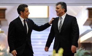 Nicolas Sarkozy et Abdullah Gül le 25 février 2011, à Ankara.