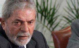 Le président brésilien Luiz Ignacio Lula, le 13 janvier à Brasilia, capitale du  Brésil.