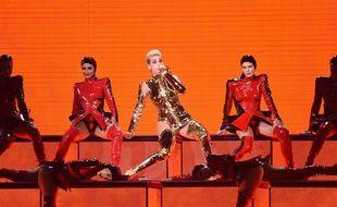 Katy Perry en concert à Taïwan, le 4 avril 2018.