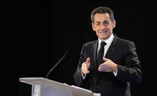 Nicolas Sarkozy à Marseille, au Mucem, le 24 janvier 2012, lors de ses voeux à la Culture.