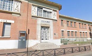 Le lycée d'Alembert, à Aubervilliers.