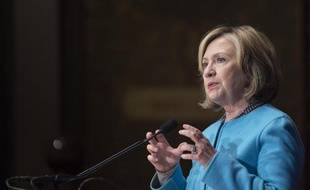 L'ancienne secrétaire d'Etat américaine Hillary Clinton s'exprime à l'université de Georgetown, le 3 décembre 2014